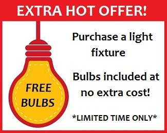 Bulbs included!