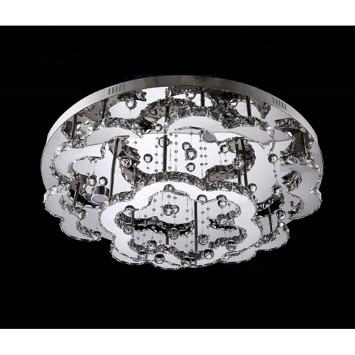 Flowery Curved Close-to-ceiling Light with In-built LED and Remote Control