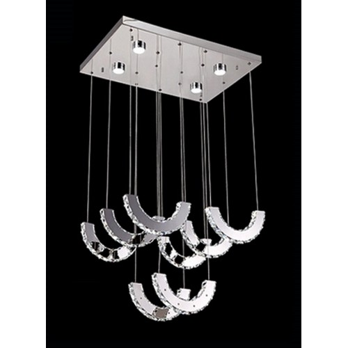 U Shaped Crystal Hanging Light with In-built LED