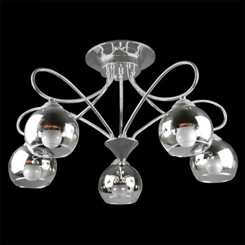 Inverted Beverage Glass Cluster Light