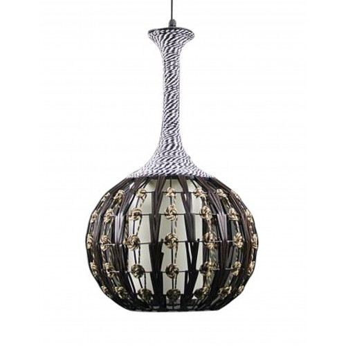 Large Flower Vase Pendant Light with LED Bulb