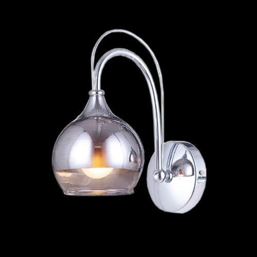 Shiny Tinted Grey Glass Wall Lamp