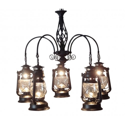 Evergreen Hurricanes Industrial Cluster Light with Bulbs
