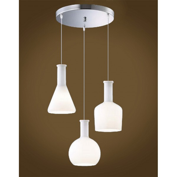 Quirky Laboratory Flask Cluster Pendant Light