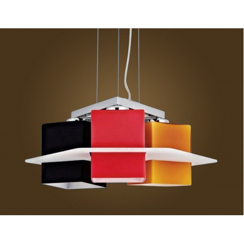 Colourful Geometric Design Pendant Light with LED Bulbs