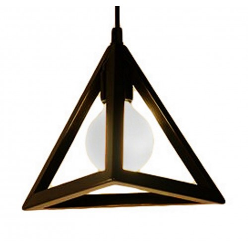 Iron Pyramid Mini Pendant Light with LED Filament Bulb