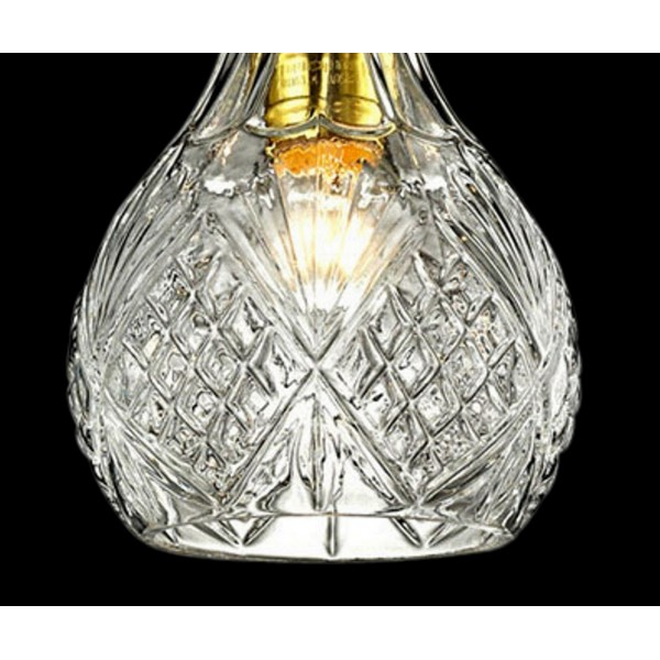 Etched Clear Glass Mini Pendant Light Lightosphere