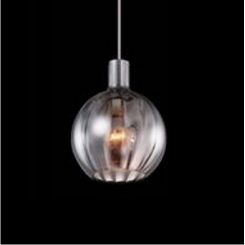 Glossy Glass Mini Pendant Light with LED Bulb