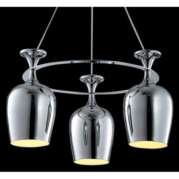Modern Copper Ring Led Pendant Lighting 10758 Shipping: Wine Glasses On A Ring Cluster Pendant Light