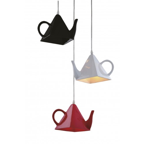 Quirky Teapot Cluster Pendant Light with LED Bulbs