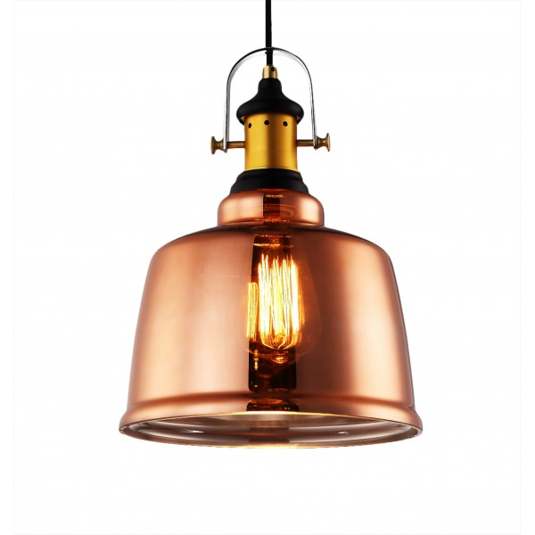 Industrial Copper Dome Large Pendant Light