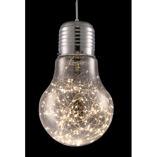 Shiny Large Globe Pendant Light with In-built LED