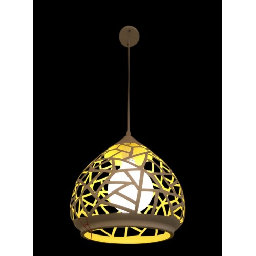 Honeycomb Patterned Large Pendant Light with LED Bulb