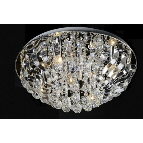 Crystal and Glass Close-to-ceiling Light with In-built LED and Remote