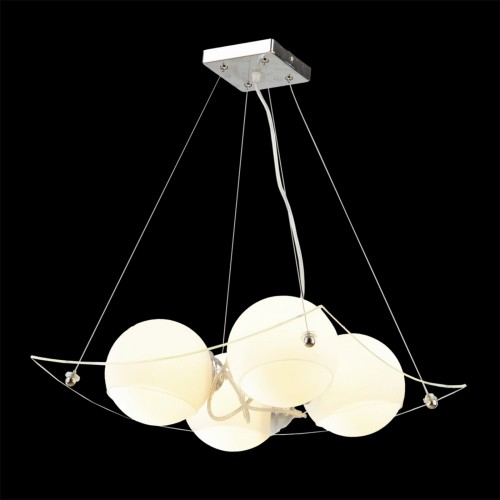 Glass Eggs on Plate Cluster Pendant Light