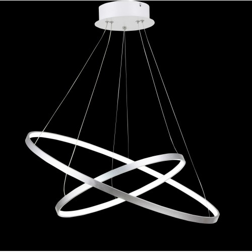 Acrylic Rings Large Pendant Light with In-built LED