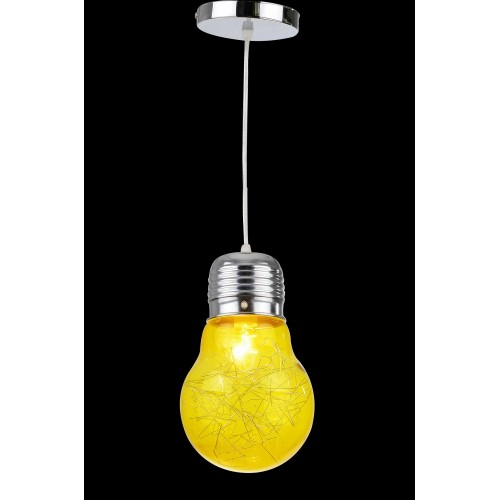 Wired Yellow Light Bulb Mini Pendant Light