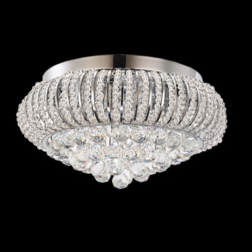 Crystal and Bead Filled Close-to-ceiling Light