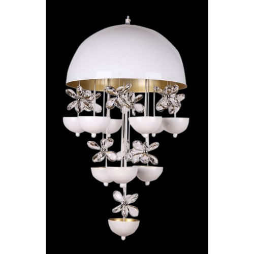 Canopy Shaped Crystal Hanging Light with In-built LED