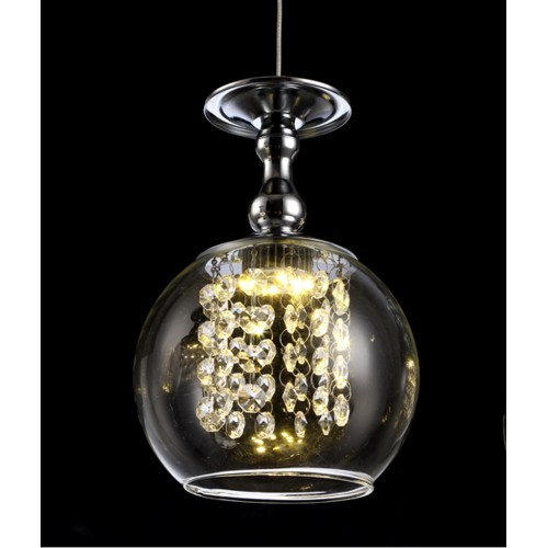 Crystal Wine Glass Mini Pendant Light with Bulb