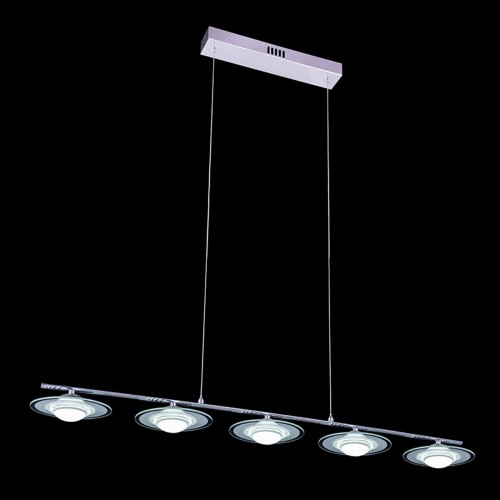 Five Spotlights Row Pendant  with In-built LED