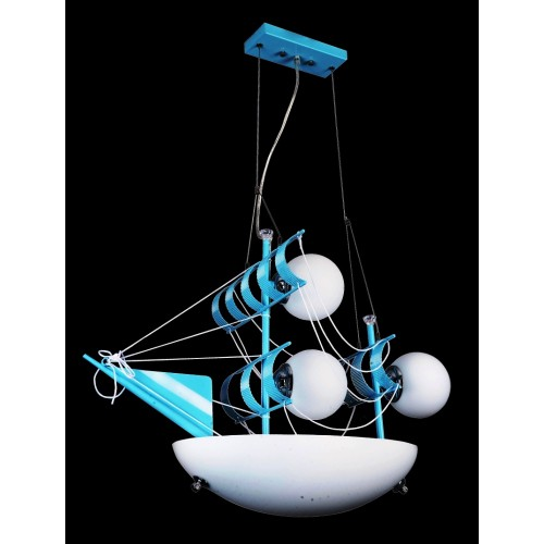 Nautical Sail Ship Kids Ceiling Light / Children's Pendant