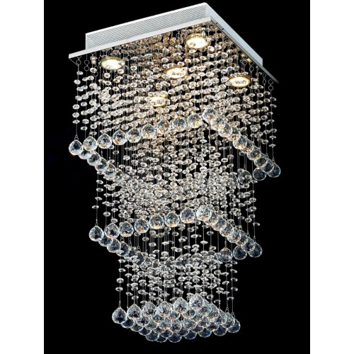Cascading Crystal Droplet Waterfall Hanging Light