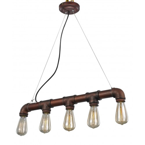 Water Pipe Row Pendant Light with LED Filament Bulbs