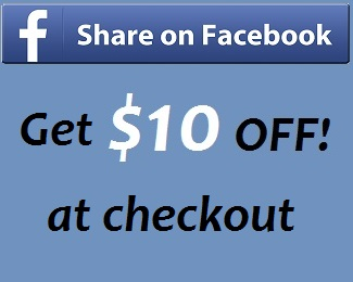 Share on fb, Get $10 off!
